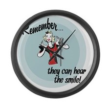 smile Large Wall Clock
