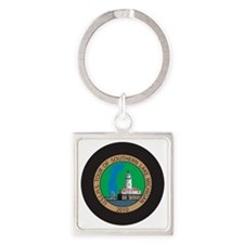 S Lk Mich Patch 4 Square Keychain