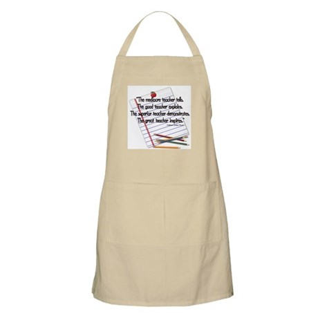 The mediocre teacher - quote BBQ Apron