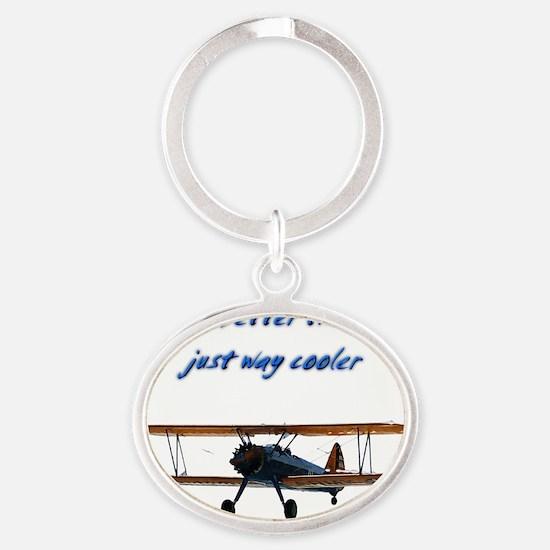 way cooler, Stearman Oval Keychain