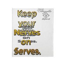 nerve serve 10x10 copy Throw Blanket
