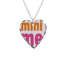 mini me girl Necklace Heart Charm