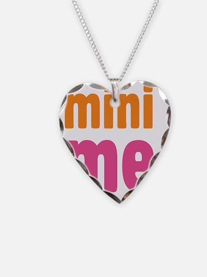 mini me girl Necklace Heart Charm