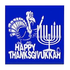 Happy Thanksgivukkah Turkey and Menorah Tile Coast