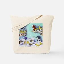 bubble bath sq Tote Bag