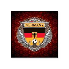 "Germany Soccer Keepsake Box Square Sticker 3"" x 3"""