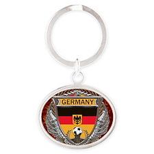 Germany Soccer Keepsake Box Oval Keychain