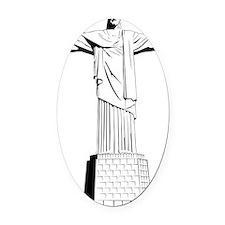 christ the redeemer Oval Car Magnet