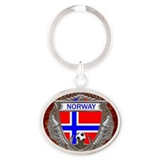 Norway Soccer Keepsake Box Oval Keychain