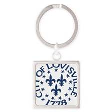 city of louisville 1778 seal sigg  Square Keychain