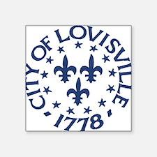 """city of louisville 1778 sea Square Sticker 3"""" x 3"""""""
