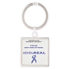 looking for attention final Square Keychain