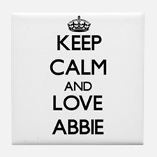 Keep Calm and Love Abbie Tile Coaster