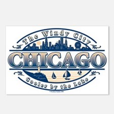 Chicago Oval Postcards (Package of 8)