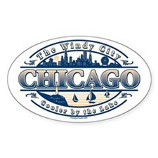 Chicago Oval Oval Decal
