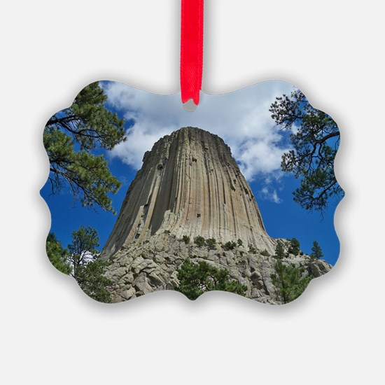 Photography, Devils Tower, Framed Ornament