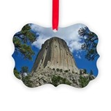 Devils tower Picture Frame Ornaments