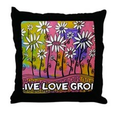 zazzle livelovegrow daisy poster Throw Pillow