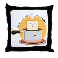 Make-ramen Throw Pillow