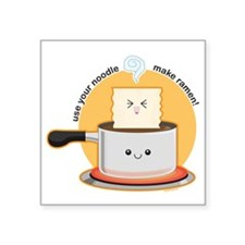 "Make-ramen Square Sticker 3"" x 3"""
