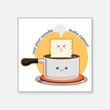 "Make-ramen Square Sticker 3"" x 3"""