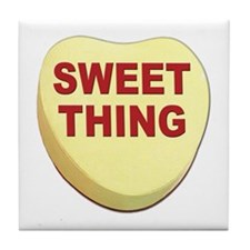 Sweet Thing Valentine Heart Tile Coaster