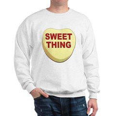 Sweet Thing Valentine Heart (Front) Sweatshirt