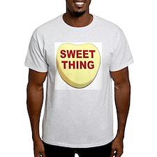 Sweet Thing Valentine Heart Ash Grey T-Shirt