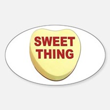 Sweet Thing Valentine Heart Oval Decal
