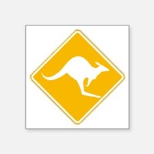 """Roo Sign Square Sticker 3"""" x 3"""""""