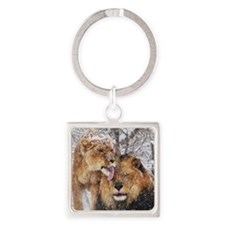 winter lions Square Keychain