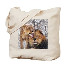 winter lions Tote Bag