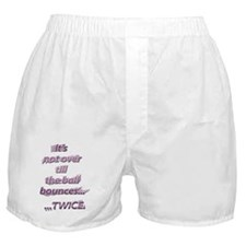 ball bounces 10x10 back only copy Boxer Shorts