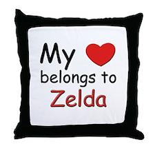 I love zelda Throw Pillow