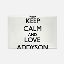 Keep Calm and Love Addyson Magnets