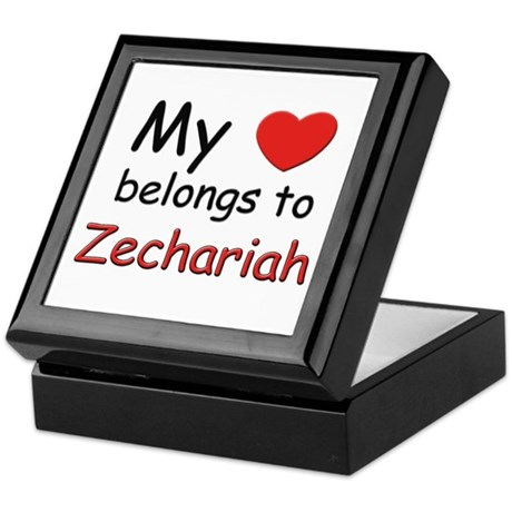 I love zechariah Keepsake Box