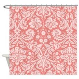 Coral pink Shower Curtains