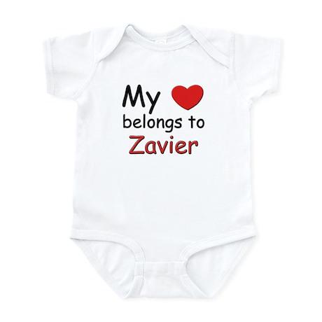 I love zavier Infant Bodysuit