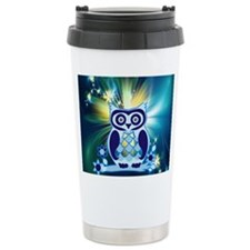 cute owl love peace cc Travel Mug