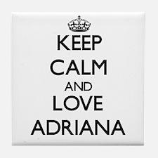 Keep Calm and Love Adriana Tile Coaster