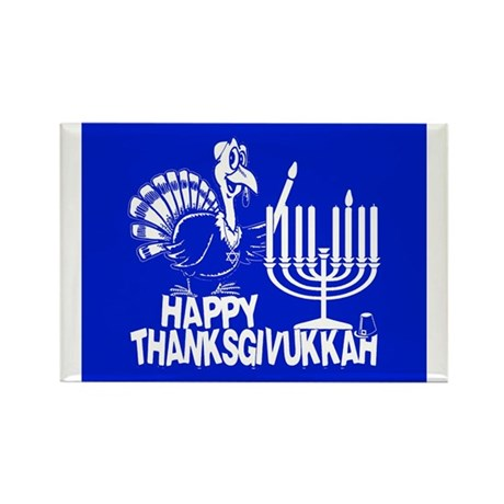Happy Thanksgivukkah Turkey and Menorah Magnets