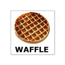 "WAFFLE Square Sticker 3"" x 3"""