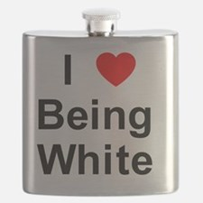 I Love Being White 1 Flask