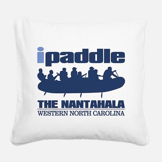 ipaddle raft (Nantahala) Square Canvas Pillow