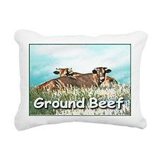 2-GROUND BEEF greeting c Rectangular Canvas Pillow