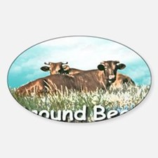 2-GROUND BEEF greeting card Decal