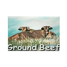 2-GROUND BEEF greeting card Rectangle Magnet