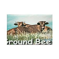 GROUND BEEF cap Rectangle Magnet