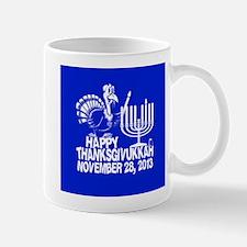 Happy Thanksgivukkah Turkey and Menorah Mugs