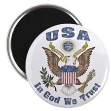 """USA - Weathered Look 2.25"""" Magnet (10 pack)"""